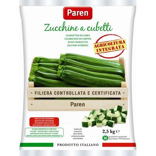 Zucchine a cubetti 4buste x 2,5KG PAREN